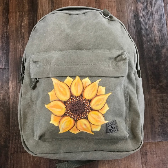 f3b0485f9 Everest Bags   Sunflower Backpack By Olive Green Canvas   Poshmark